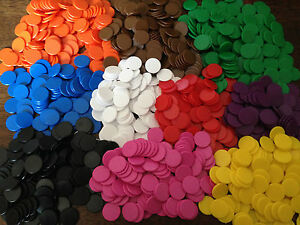 16mm-Opaque-Plastic-Board-Game-Counters-Tiddly-winks-Numeracy-Teaching-10-colors