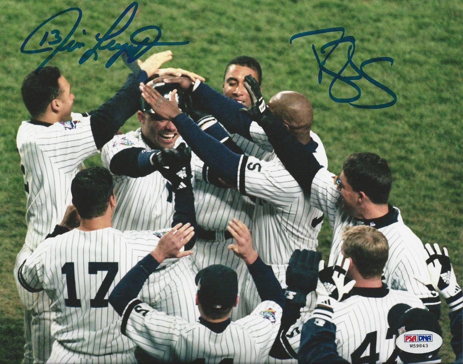 Jim Leyritz & Darryl Strawberry Dual signed 8x10 photo PSA/DNA #W59843