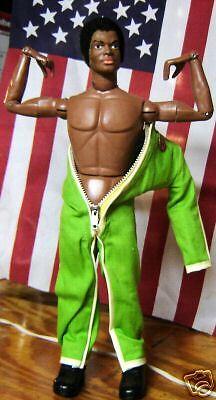 1970 Afro American Fuzzy Cabeza G.i. Joe Figura De 12 Pulgadas Usa Army Original