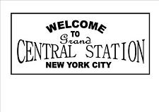Railway Station Sign Reproduction Grand Central Station Vintage Repro Metal Sign