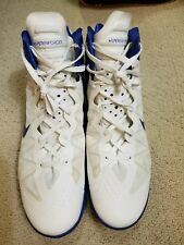 Nike Zoom Hyperenforcer Sz 18 White/Royal Blue 487786-106
