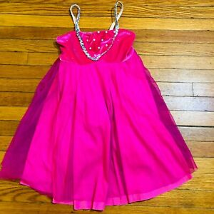 A-WISH-COME-TRUE-Dance-Girls-Dress-Large-Child-Costume-Ballet-Performance-Pink