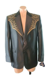 NWT-Circle-S-44R-Western-Sport-Coat-San-Miguel-Embroidered-Yoke-Bronze-Blazer