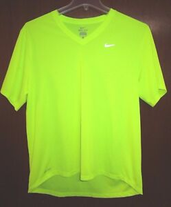 top quality temperament shoes cheap Details about Nike Dri-Fit Men's Large T-shirt. Fluorescent Safety  Visibility Jogging Running