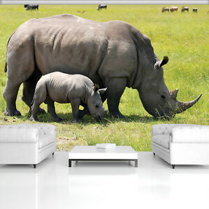 Courageux Papiers Peints Photos Papier Peint Papier Peint La Fresque Poster Photo Rhinocéros Des Animaux 3fx3621p8-afficher Le Titre D'origine