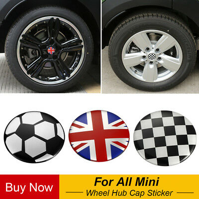 WJSWBX 4pcs Auto Wheel Hub Center Caps Covers 54MM For MINI Cooper S R56 R60 R61 F55 F56 F60 Replacement Badge Emblem Covers Decorative Wheel Trim Car Styling Accessori