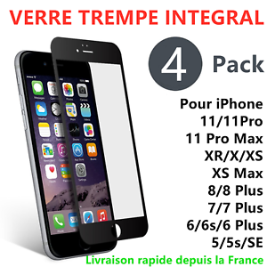 LOT4-VERRE-TREMPE-INTEGRAL-3D-FILM-VITRE-PROTECTION-ECRAN-iPhone-11-XR-X-8-7-6
