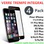 LOT4-VERRE-TREMPE-INTEGRAL-3D-FILM-VITRE-PROTECTION-ECRAN-iPhone-11-XR-X-8-7-6 miniature 1