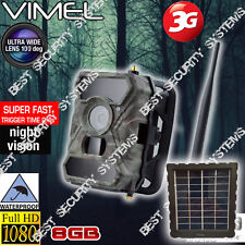 Home Security Video Solar Camera 3G GSM 8GB Trail Outdoor Motion Anti Theft