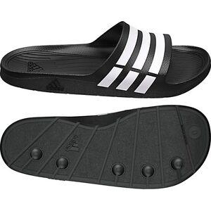 101fc5ec8665 Adidas Duramo Mens Slide On Flip Flop Sandals Black   White Size 5 ...