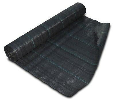 ZEBEL 1m x 50m 100gsm Geotextile Weed Control Ground Cover Fabric Membrane Roll