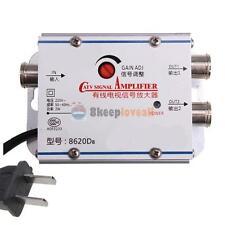 2 Output CATV TV Broadband Signal Amplifier AMP Antenna Booster Splitter Home