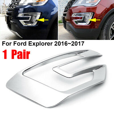FOR 2015 2016 2017 FORD F150 CHROME FRONT BUMPER FOG LIGHTS COVERS TRIM PAIR
