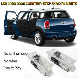 Car Door Welcome Light 4 Pieces Car Door Welcome Light Courtesy Shadow 3D Lamps Logo Projector for Mini Cooper One S R55 R56 R60 F55 F56 Countryman Clubman