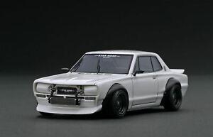 1:43 Nissan Skyline 2000 GT-R (KPGC10) STAR ROAD - White - Ignition Model IG1912