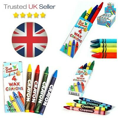 15 Packs .4 Mini Colouring Wax Crayons Lucky Dip Party Bag Pinata Fillers