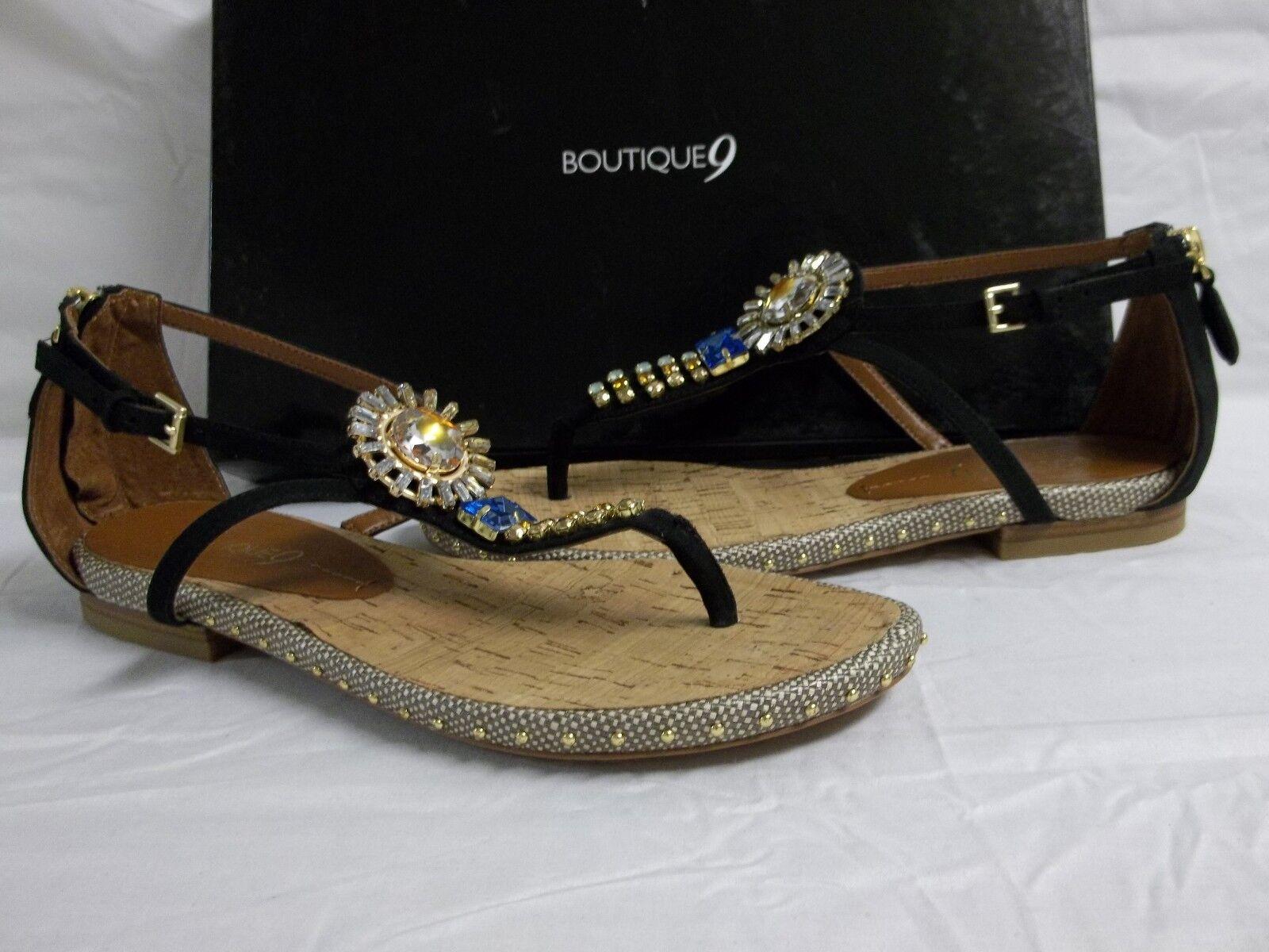 servicio de primera clase Boutique 9 M Mix Mix Mix It Up Negro Correa de Cuero Nobuck Sandalias nuevo Zapatos para mujer  suministramos lo mejor