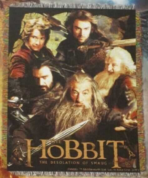 New Gandalf The Hobbit Desolation of Smaug Thorin Bilbo Kili Gift Throw Blanket