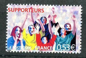 STAMP-TIMBRE-FRANCE-N-3907-COUPE-DU-MONDE-DE-FOOTBALL-EN-ALLEMAGNE