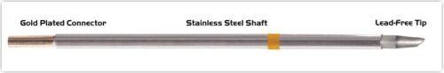 "0.09/"" NEW Thermaltronics M7WV300 Soldering Iron Tip Hoof w//Dent 45° 2.40mm"