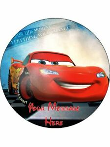 Disney Cars 3 Personalised Birthday Edible Cake Topper 7 5 Round Ebay