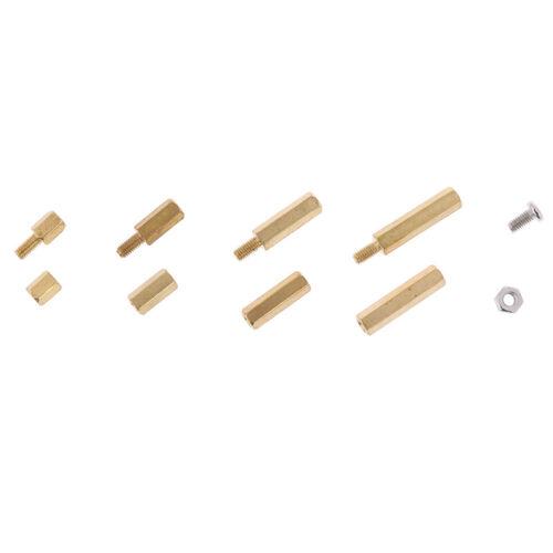 120Pcs M3 Male Female Brass Standoff Spacer PCB Board Hex Screws Nut Set ZB KQ