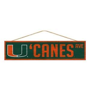 Wincraft Miami Hurricanes 4 x 17 Street Sign NCAA Canes