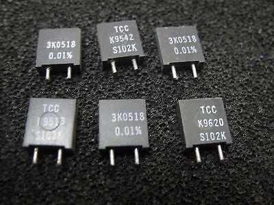 1x 3K0518 TCC TxCC S102K Series Metal Foil Resistors 0.01% 3.0518KΩ