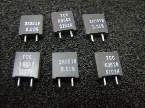 1x 3K0518 TCC TxCC S102K Series Metal Foil Resistors 0.01/% 3.0518KΩ