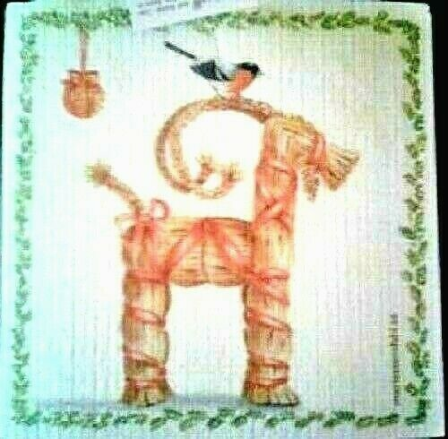 Swedish Straw Jul Goat Christmas Dish Cloth NEW
