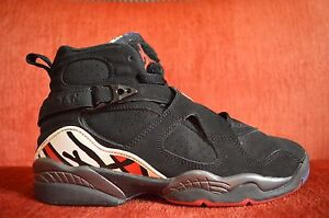 9da1e80309b6 Nike Air Jordan 8 VIII Retro GS Size 5.5Y Playoffs OG Black White ...