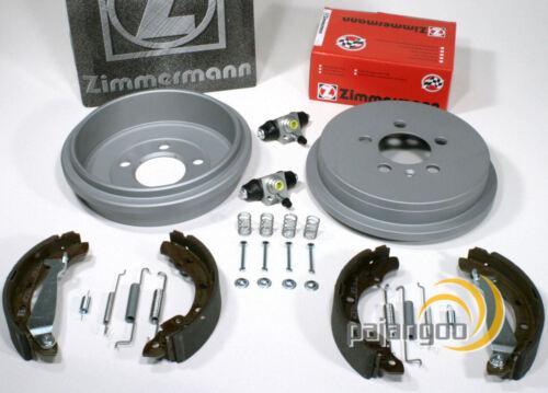 Zimmermann Bremstrommel Set Radzylinder Zubehör für hinten Skoda Fabia