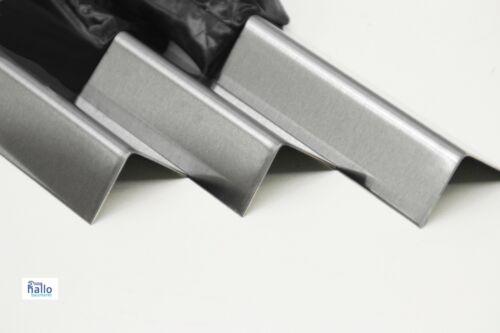 Edelstahlwinkel gebürstet 1000mm Länge 1 Meter ✔️edle Optik Kantenschutz  V2A VA