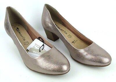 TAMARIS Damen Schuhe Da. Sommer Pumps Rosa Metallic Leder NEU 1 22302 28 | eBay