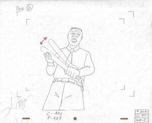 Beavis & Butt-head 1990's Production Cel Drawing Animation Art Coach