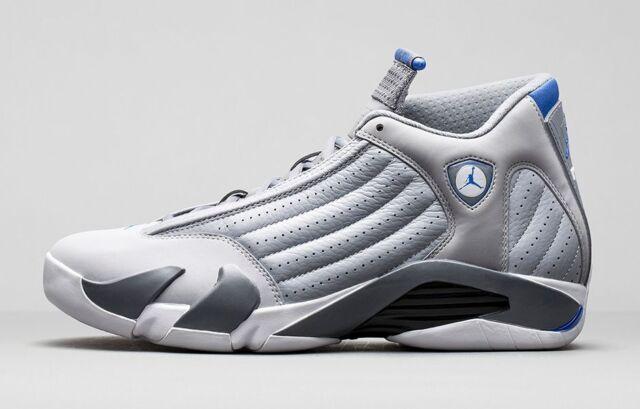 ef217d259ca297 2014 Nike Air Jordan 14 XIV Retro Wolf Grey Sport Blue size 15. 487471-