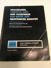Hach Manual For Wastewater Analysis With Calibrations For Spectronic 20 Etc