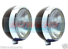 """PAIR OF STAINLESS STEEL CHROME 7"""" INCH CIBIE OSCAR H4 SPOT/DRIVING LAMPS/LIGHTS"""