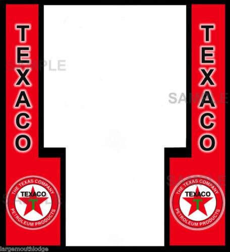 TEXACO FRONT DECAL NORTHWESTERN GUMBALL MACHINE PEEL AND STICK VINYL