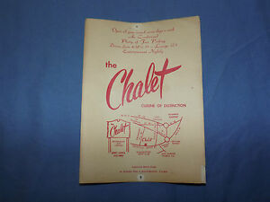 VINTAGE THE CHALET CRAIGVILLE BEACH ROAD W. HYANNIS PORT MASSACHUSETTS    MENU