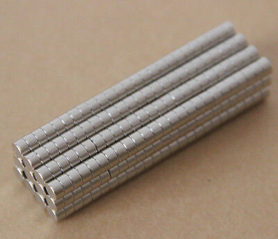 100pcs 3 X 3mm Neodymium Disc Super Strong Rare Earth N35 Small Fridge Magnets