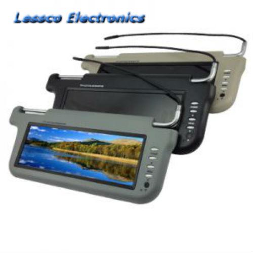 "Grey w// 9/"" TFT LCD Color Screen Driver Accele ZSV9DRG 9/"" Sun Visor Monitor"