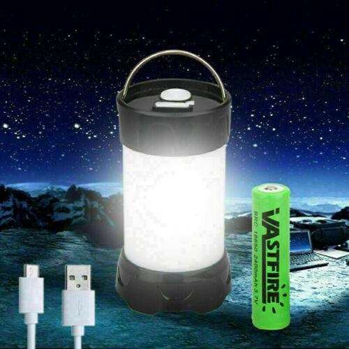 Magnet LED Camping Hiking Night Light Lantern USB White+Red LED Flashlight Tent