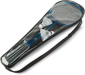Garden Game Badminton Net Player Racket Shuttlecock Poles Net Bag Professional