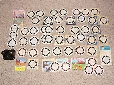 VINTAGE VIEW MASTER TOY LARGE REEL LOT IN VERY PLAYED WITH CONDITION