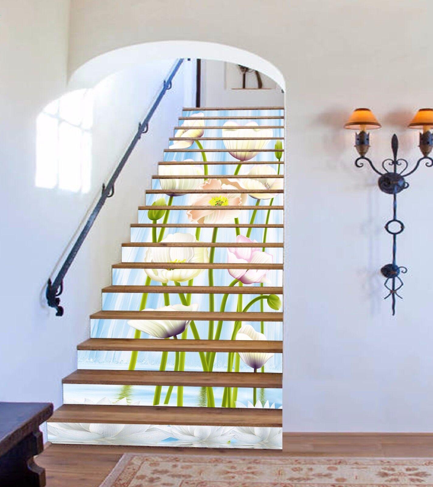 3D Flowering 631 Stair Risers Decoration Photo Mural Vinyl Decal Wallpaper UK