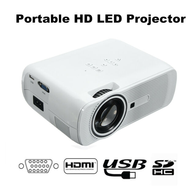 Mini 1080p Full Hd Led Projector Home Theater Cinema 3d: 7000 Lumens 1080P Full HD Mini LED Projector 3D Home