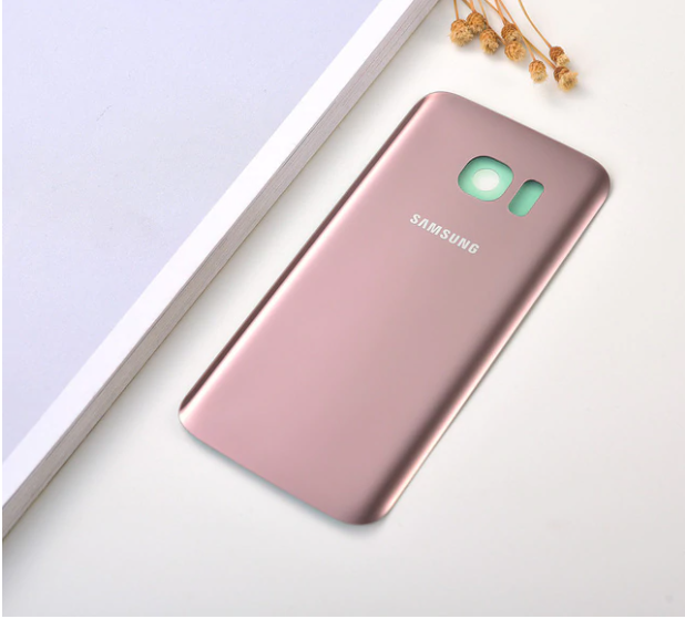Vitre Arriere Samsung Galaxy S 7 Edge - Rose