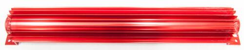 "Red Dual Pass Alumminum Transmission Cooler 18"" Hot Rod Trans Cool Log Street A"