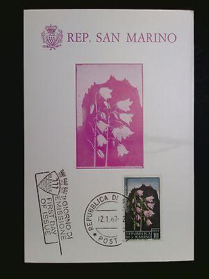 Diskret San Marino Mk 1967 Flora Blumen Flowers Maximumkarte Maximum Card Mc Cm C8404 Motive Natur & Pflanzen
